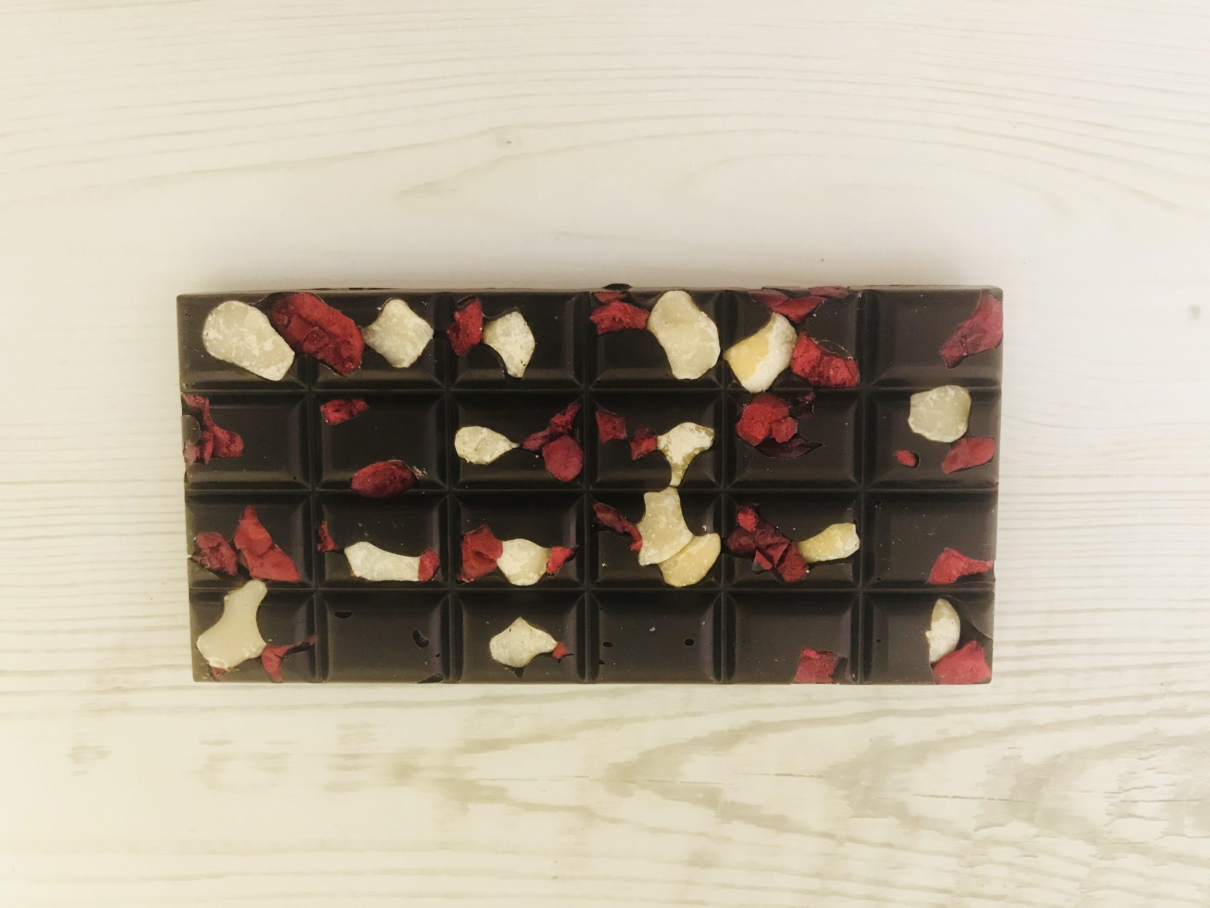 198b60da295f Dark Macadamia and Cranberry Choc – Beaulieu Chocolate Studio
